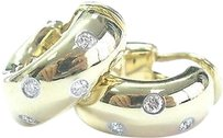 Tiffany & Co. Tiffany,Co,18k,Yellow,Gold,Platinum,Etoile,Diamond,Hoop,Earrings,.35ct,