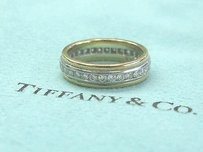 Tiffany & Co. Tiffany Co Platinum18kt Diamond Wedding Band .64ct Sz 5
