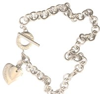Tiffany & Co. Toggle Chain Necklace with Double Hearts
