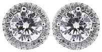 Tiffany Jones Designs 4.50ct Tw H-si1 Ideal Round Natural Diamond 18k Earrings With Halo 3.43gr