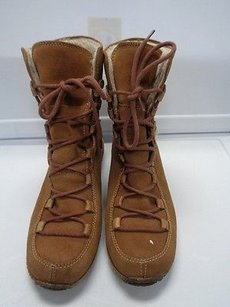 Timberland Lace Up Rubber Lined Casual B3211 Beige Boots