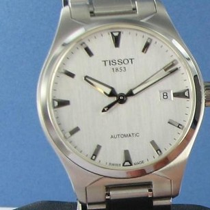 Tissot Tissot T0604071103100 T Tempo Automatic Silver Dial Steel Mens Watch