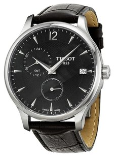 Tissot Tissot Tradition GMT Black Dial Stainless Steel Mens Watch T0636391605700