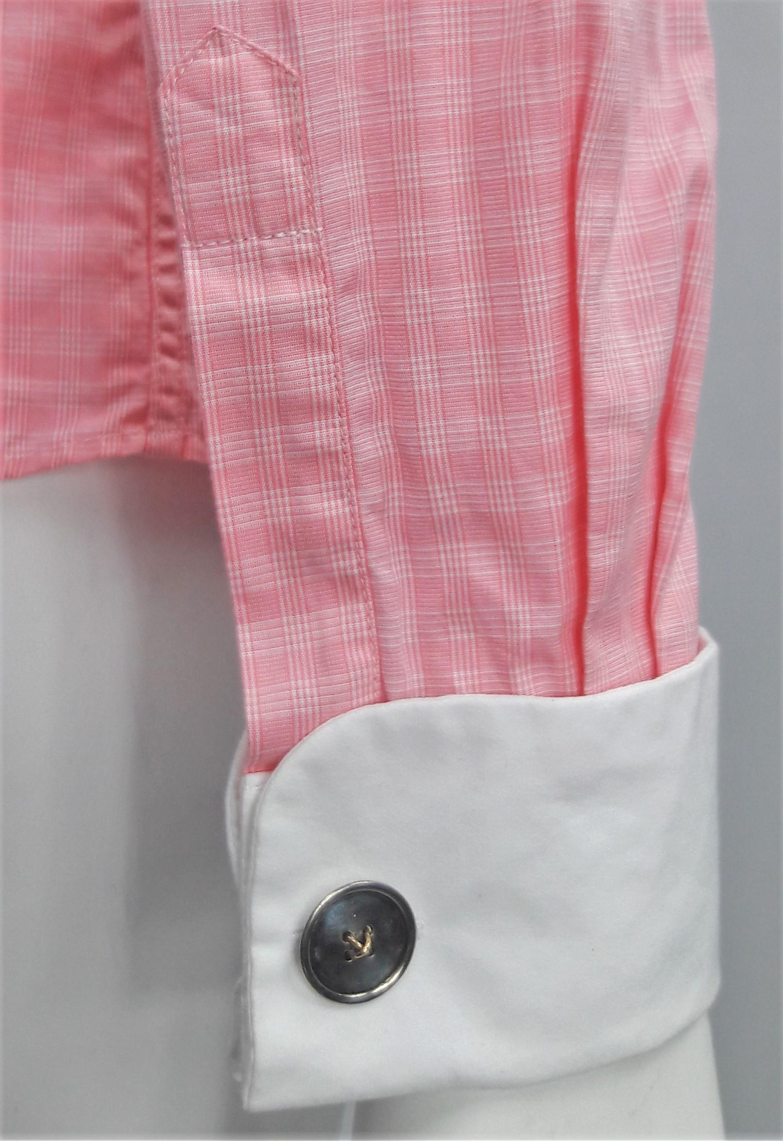 Tm Lewin Review >> T.m. Lewin Pink Cotton Plaid L/S Shirt W/ White Peter Pan Collar/Cuff Button-down Top Size 4 (S ...
