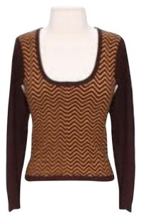 Tocca Cashmere Silk Chevron Sweater