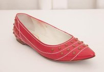Tod's Womens Strawberry Pink Leather Ballet Ballerina Flats