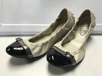 Tod's Tods Black White Leather Multi-Color Flats