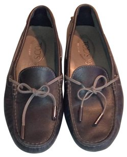Tod's Leather Loafer Grey Flats