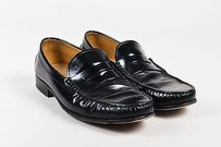 Mens Tods Black Patent Leather Loafers