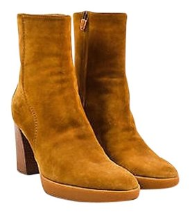 Tod's Tods Tan Suede Almond Toe Beige Boots