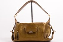 Tod's Tods Bronze Grain Satchel in Gold