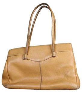 Tod's Womens Handbag Leather Textile Satchel in Tan