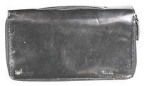 Tod's Tods Womens Black Clutch Leather Wristlet Handbag Purse Wallet
