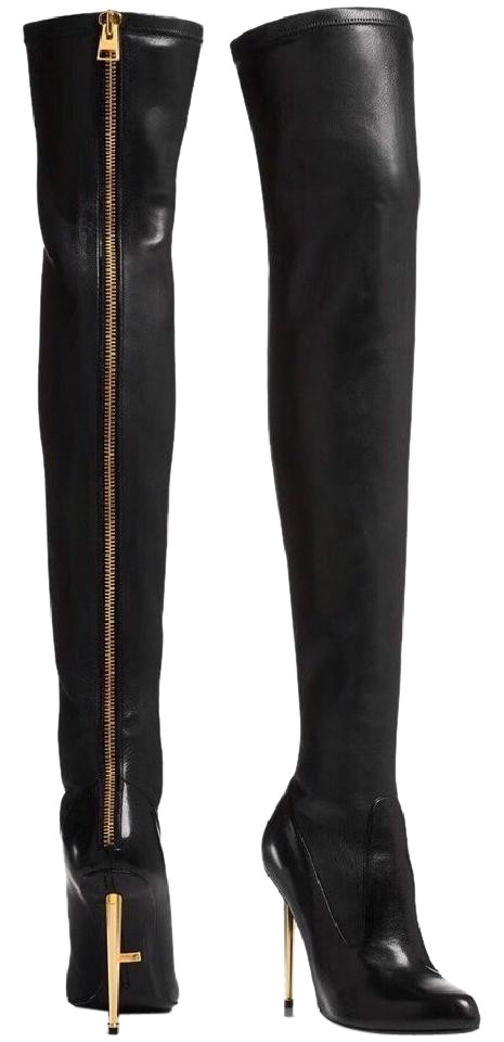 Tom Ford Leather Over-The-Knee Boots under $60 for sale clearance professional wFhbUQsT9p