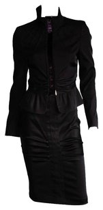 Tom Ford Iconic Gucci FW 2004 Ruched Runway Jacket & Skirt! IT42