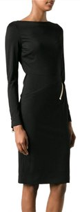 Tom Ford Stretch Silk Ruched Asymmetrical Zip Power 238s Dress