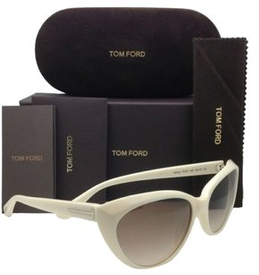 Tom Ford TOM FORD Sunglasses MARTINA Ivory White Frame w/ Brown Gradient