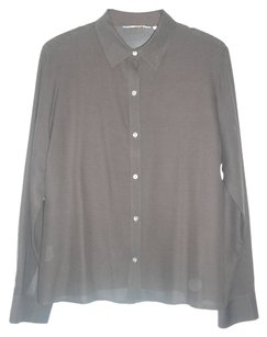 Tommy Bahama Button Down Sheer Silk Blend Button Down Shirt Brown