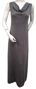 Gray Maxi Dress by Tommy Bahama Adelaide Cowl Neck Silver Silk Blend Maxi Sweater