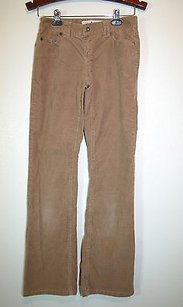 Tommy Hilfiger Khaki Lowrise Boot Cut Stretch Corduroy Pants