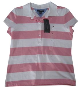 Tommy Hilfiger T Shirt Pink/White