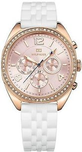 Tommy Hilfiger Tommy Hilfiger Rose Gold-tone Silicone Ladies Watch 1781568