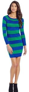 Tommy Hilfiger short dress Blue and Green Stripes Winter Sweater on Tradesy
