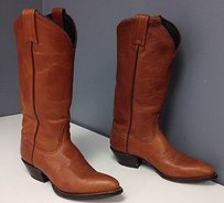 Tony Lama Vintage Leather Embroidered Toe Pull On Western B3486 Brown Boots