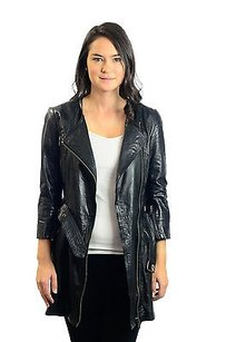 Topshop Quilted Longline Black Jacket