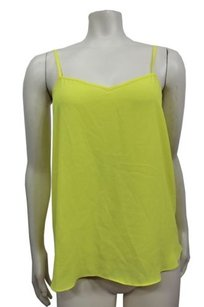 Topshop Bright Sheer Top Yellow
