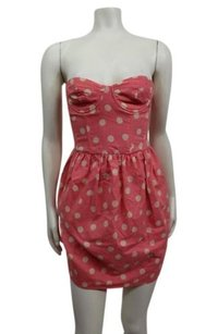 Topshop Polka Dot Strapless Dress