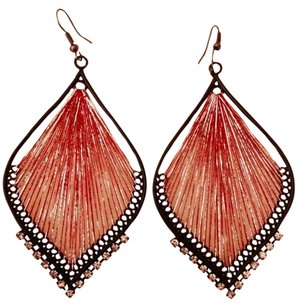 Torrid Large Red Thread Earrings