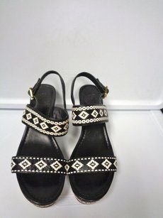 Tory Burch Black And White Platforms