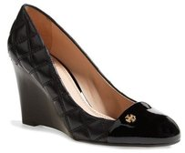 Tory Burch Claremont Quilted Black Platforms