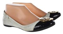 Tory Burch Womens Black Ballet Color Block Slip On Leather Multi-Color Flats