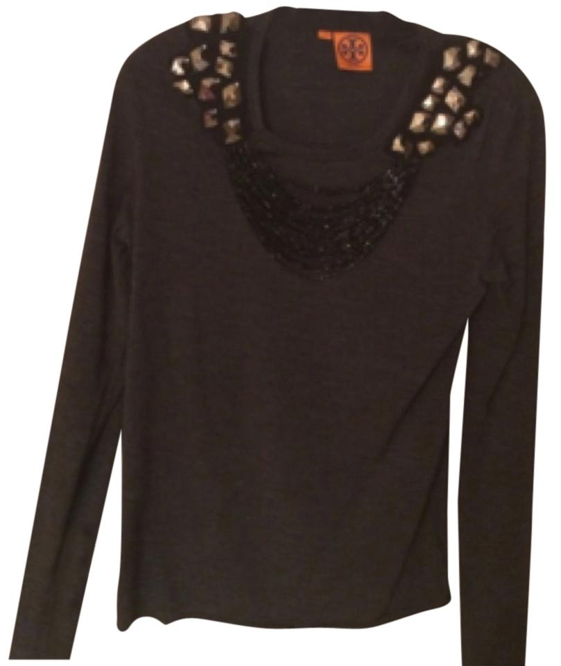 Tory Burch beaded top charcoal size Xsmall.