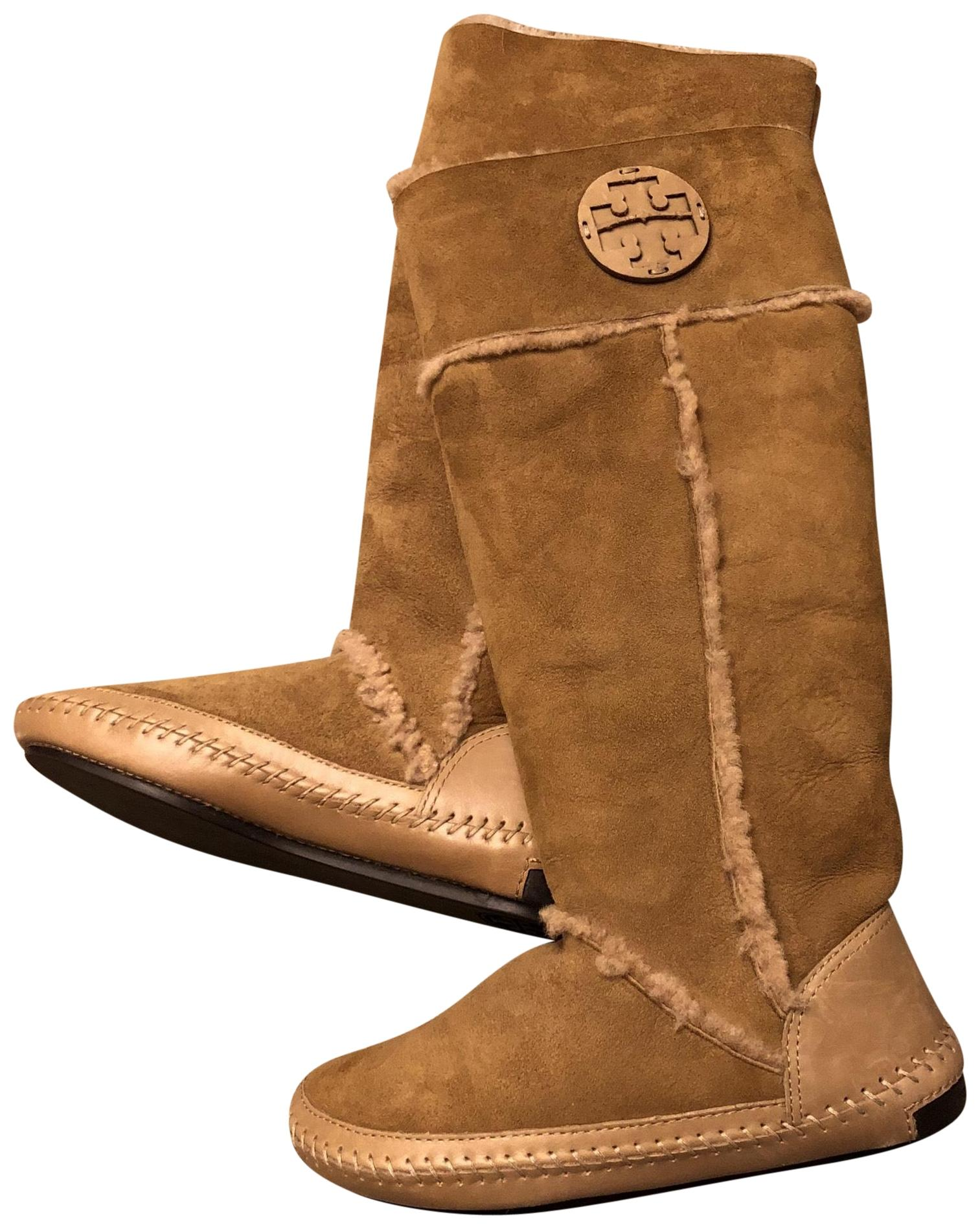 recommend for sale Tory Burch Leather Suede-Trimmed Boots clearance sale online PxDl2FDWsA