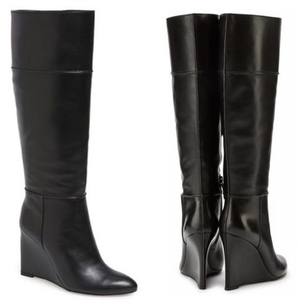 Tory Burch Leather Knee-High Wedge Boots new styles cheap price 49bs4b
