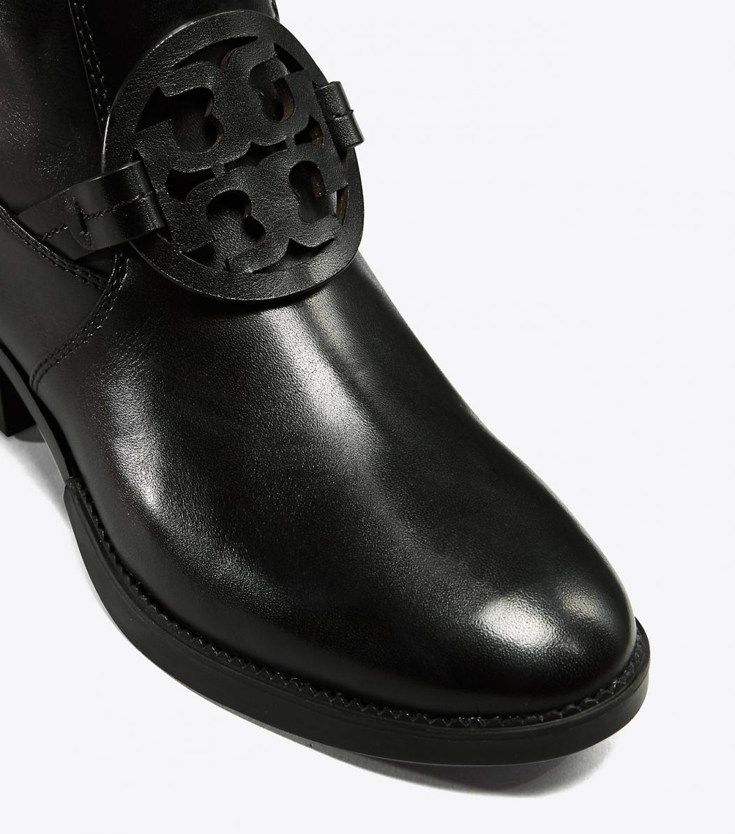 16ffa105e22d ... Gentlemen Ladies :Tory Burch Black Miller Pull-on Leather Boots Booties  Size ...