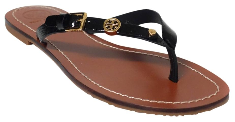 9abc75eb62b5cd ... spain tory burch thong flat thong flat thong black sandals 04bad adf39