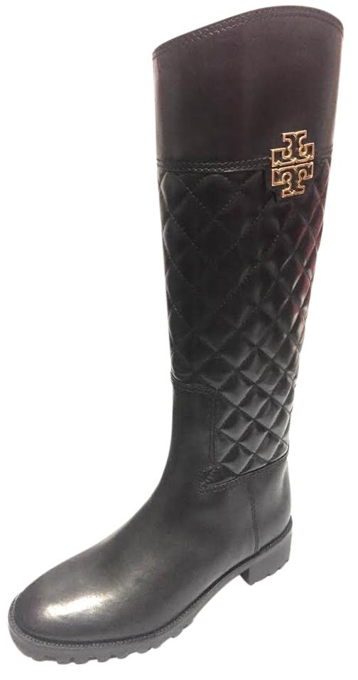 f5078d72028bb ... norway tory burch riding leather veg leather black boots 55227 9bb22