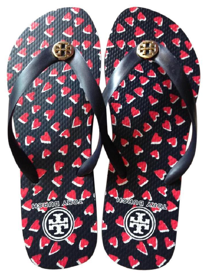 a190c5516 Tory Burch Black   Red New New New Flip Flops Sandals Size US 9 Regular (M