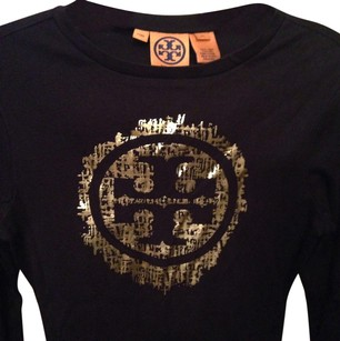 Tory Burch T Shirt Black w Gold