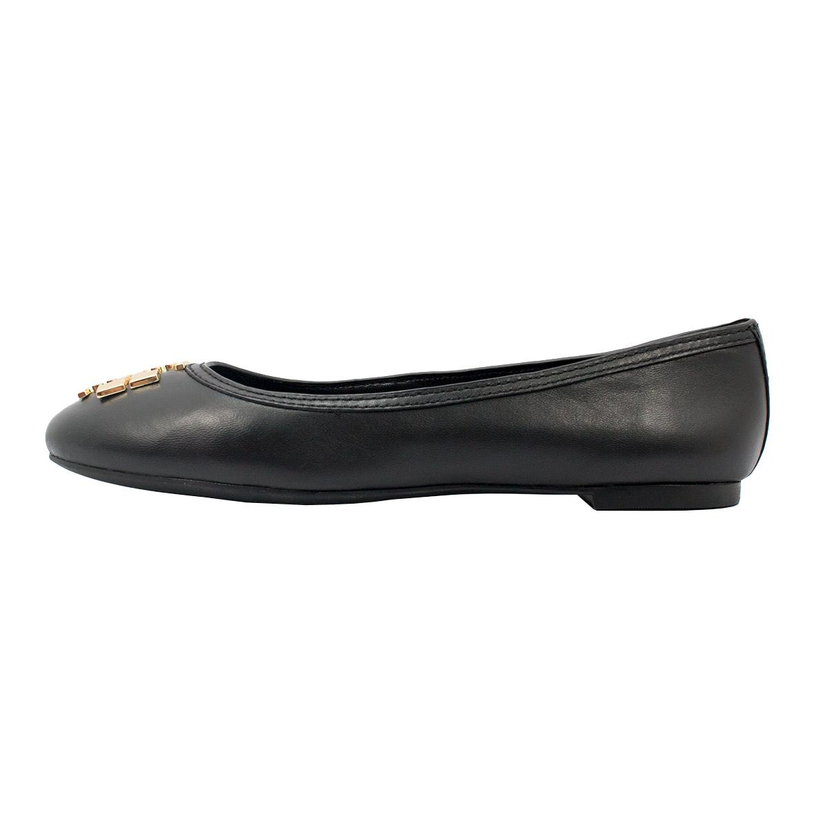 Tory Burch Black/Gold Laura Ballet - Mestico Black/Gold Flats