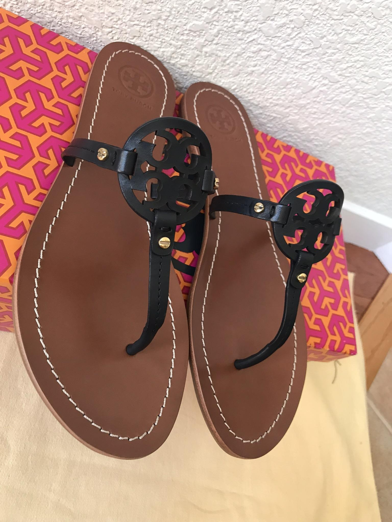 e30fba9420da ... Tory Tory Tory Burch Blue 8.5m Mini Miller Flat Sandals Size US 8.5  Regular ...