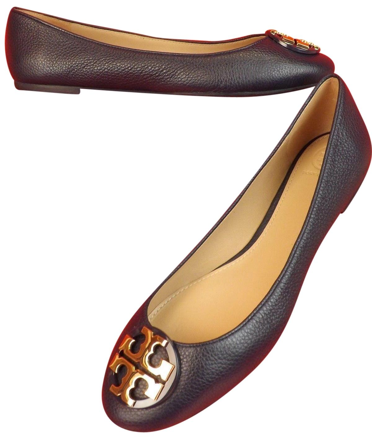 Tory Burch Brigh Navy /Gold Flats ...