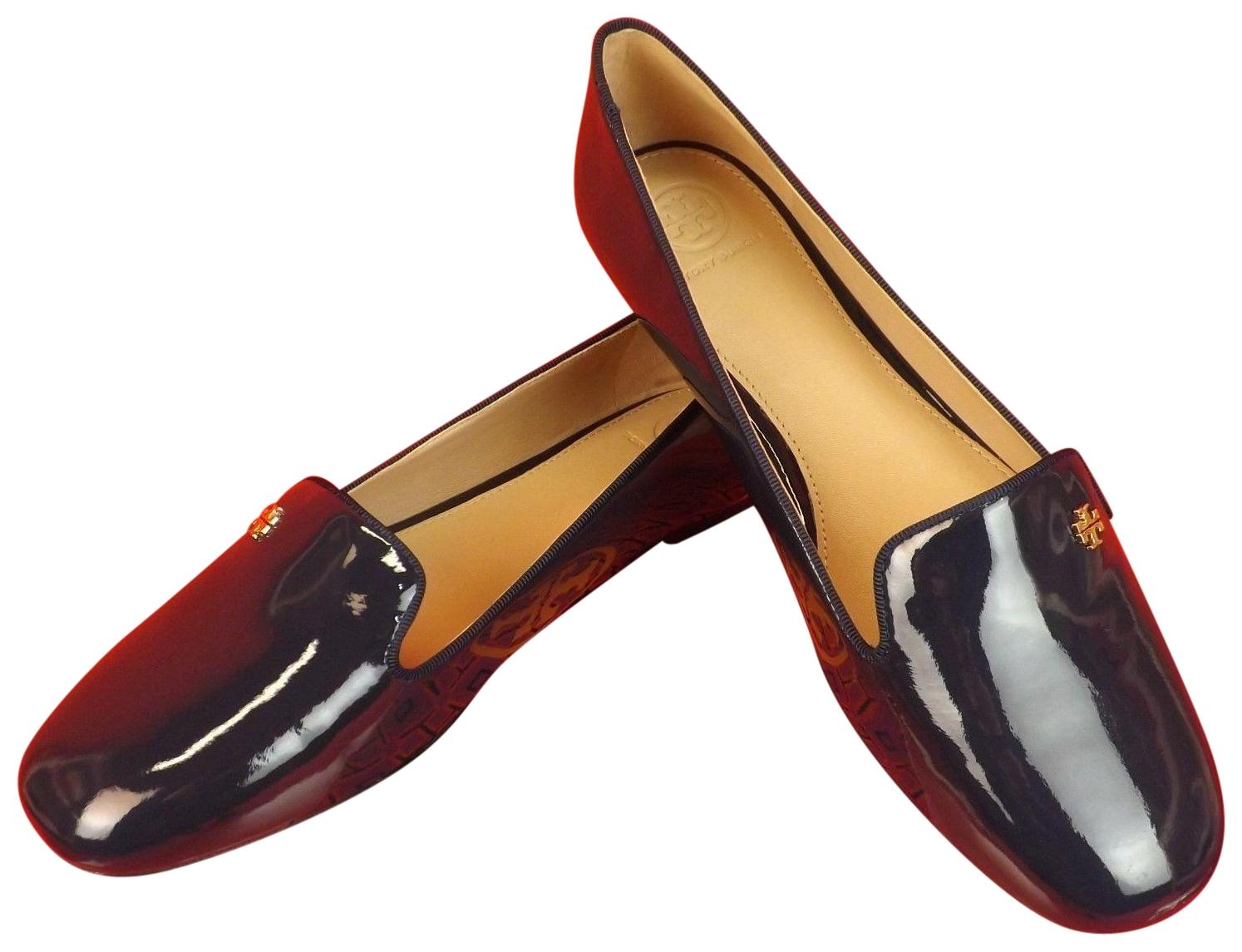 blue patent leather flats