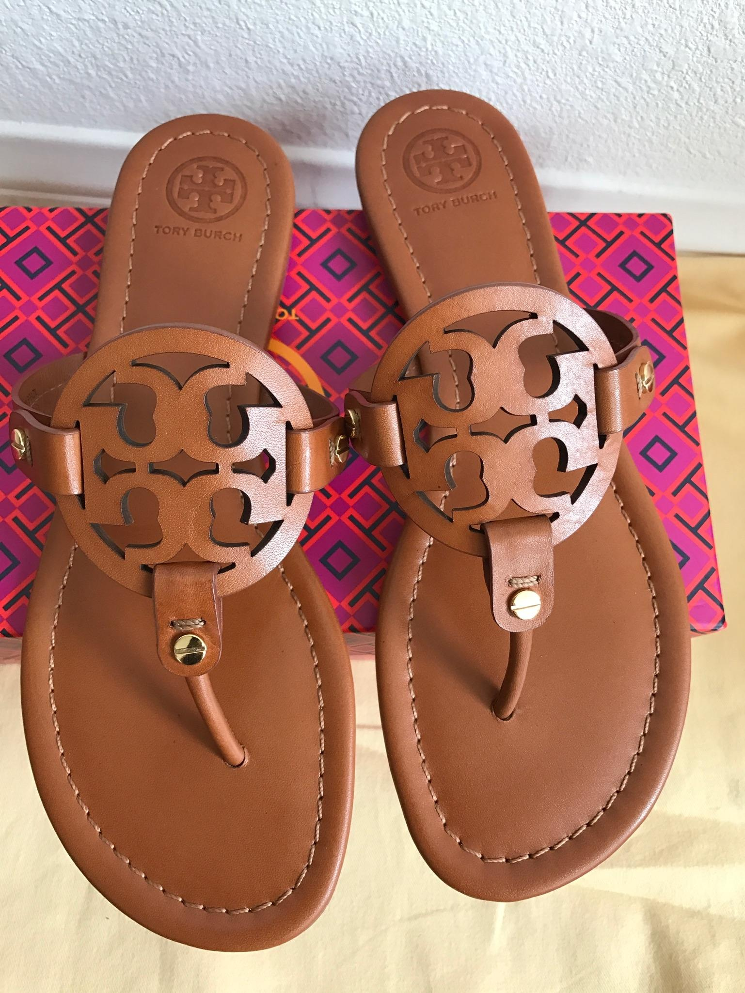a3f6cc2f6b462 ... Tory Burch Brown 8.5m 8.5m 8.5m Miller Veg Leather Sandals Size US 8.5  ...