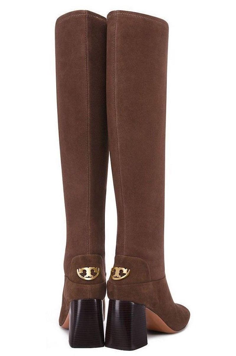 c9a7f1957314 Tory Burch Brown New Stretch Knee Knee Knee High Suede Winter Boots Booties  Size US ...