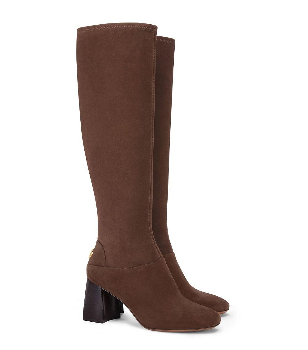 213dec56259c ... Tory Burch Brown New Stretch Knee Knee Knee High Suede Winter Boots Booties  Size US ...